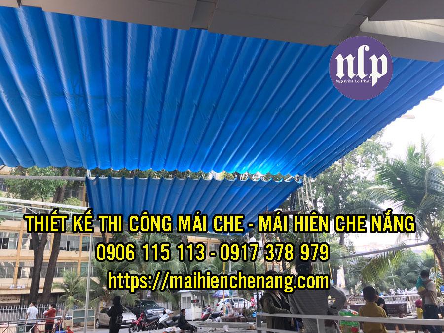 Lắp Đặt Mái Che Di Động , Bạt Kéo Mái Xếp Tại Thuận An .