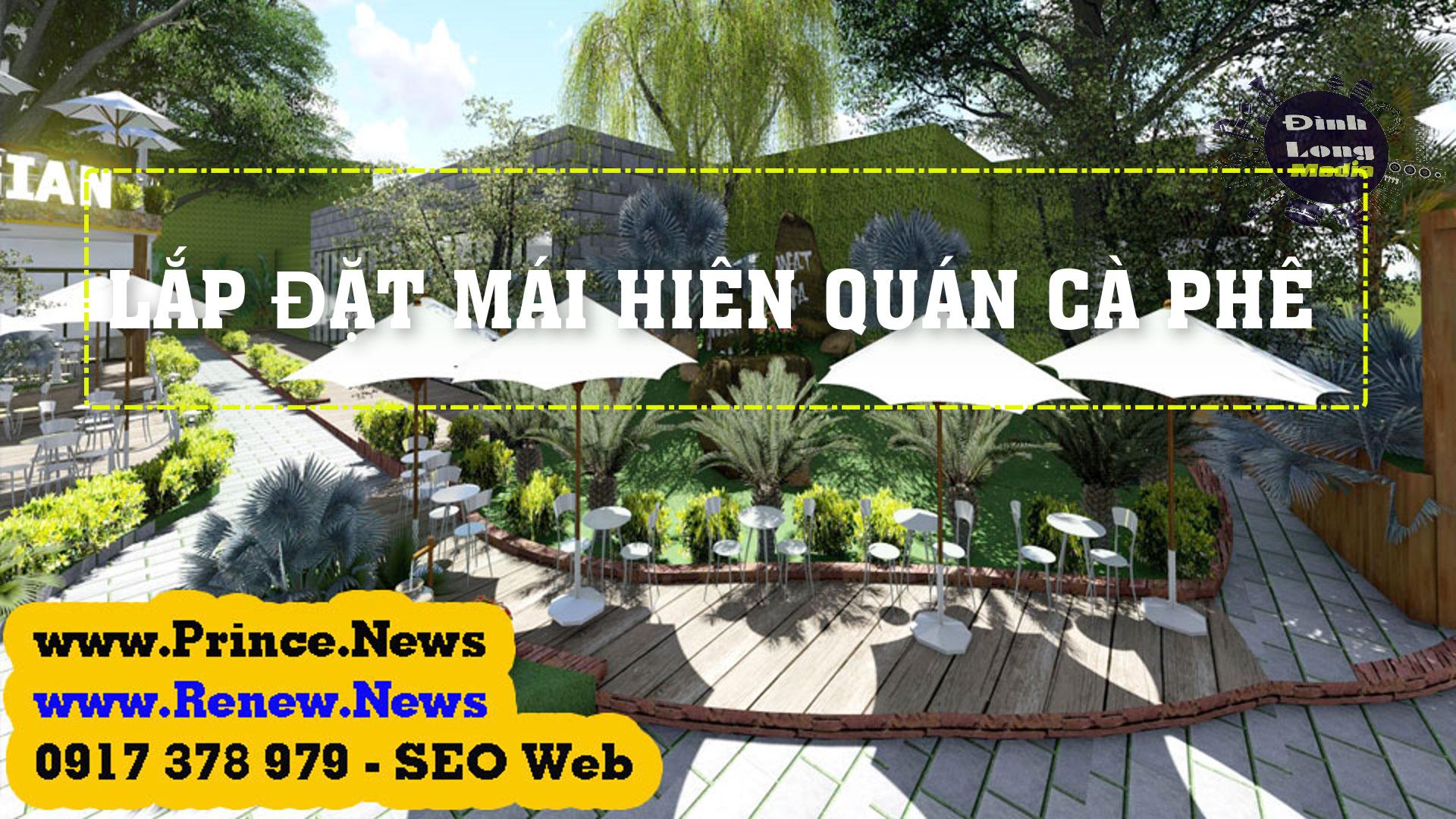 Báo giá thiết kế các mẫu mái che quán cafe sân vườn đẹp