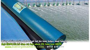 Bạt Nhựa HDPE Lót Ao Hồ Giá Rẻ, Thi Công Lót Bạt Ao Hồ