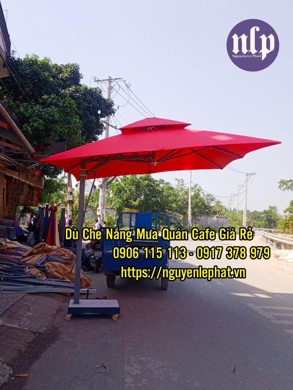 Xưởng Sản Xuất Ô Dù Che Nắng Trang Trí Quán Cafe Giá Rẻ