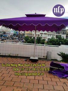 Dù che nắng BMT, Báo giá dù che nắng quán cafe ngoài trời BMT