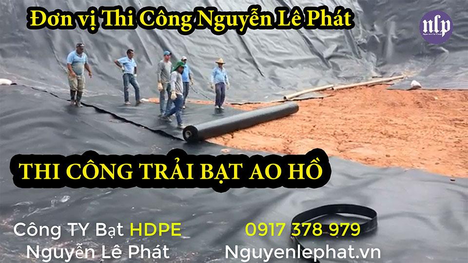 Thi công lót bạt ao hồ chứa nước Đồng Nai