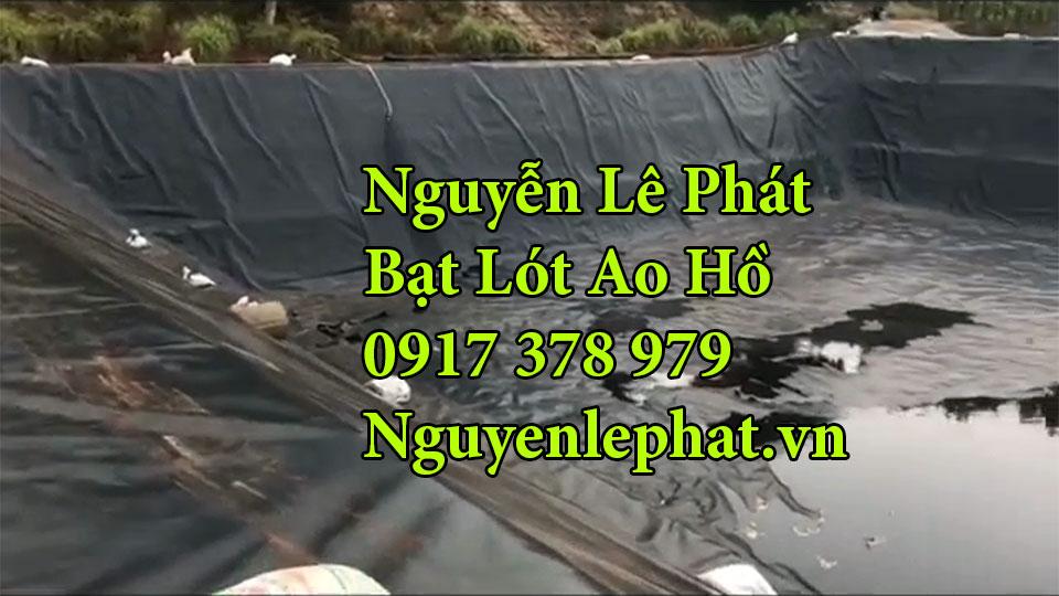 Bạt lót hồ chứa nước nuôi cá tại Long An
